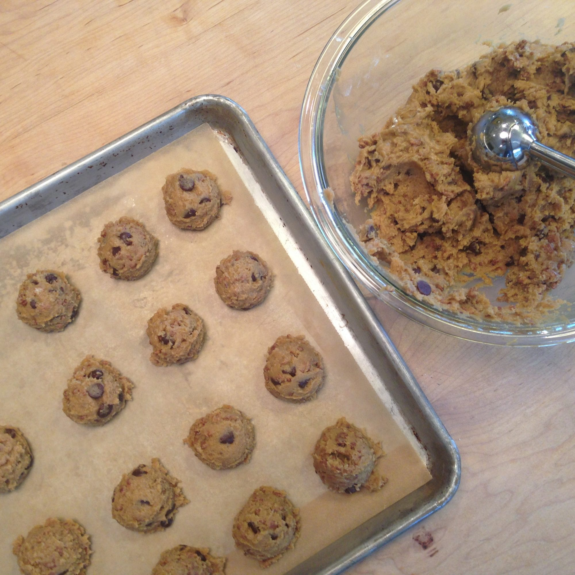Scooping Cookie Batter Onto Baking Sheet | Jessie Sheehan Bakes