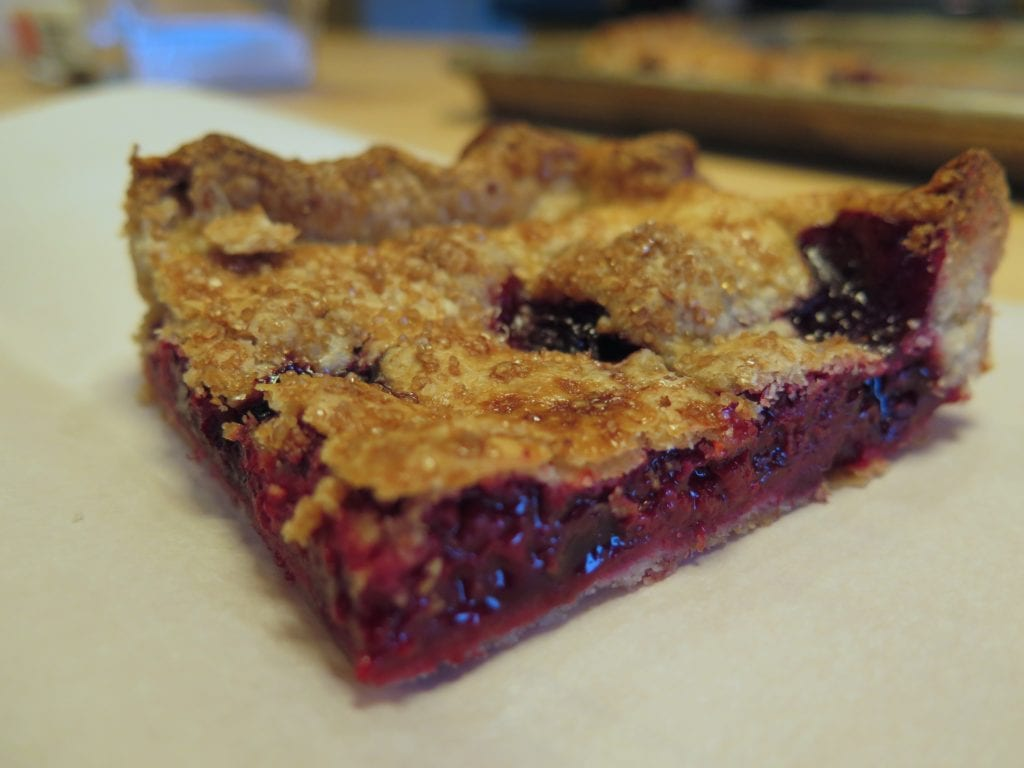 Apple-Raspberry Slab Pie Recipe — Dishmaps