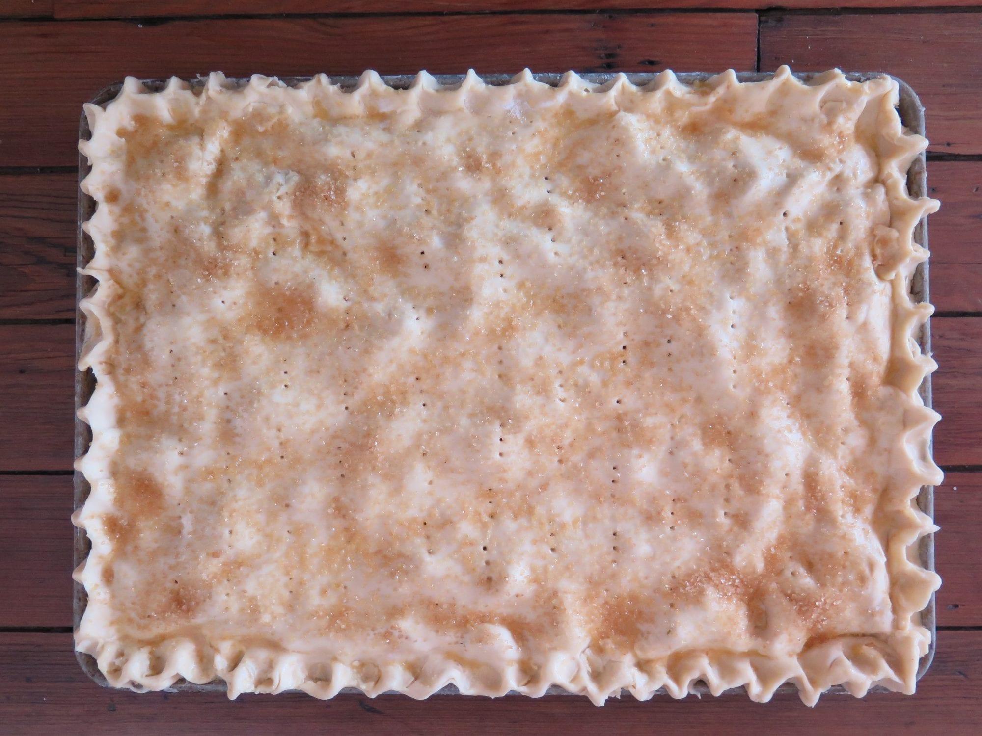 pre-baked apple sour cherry slab pie