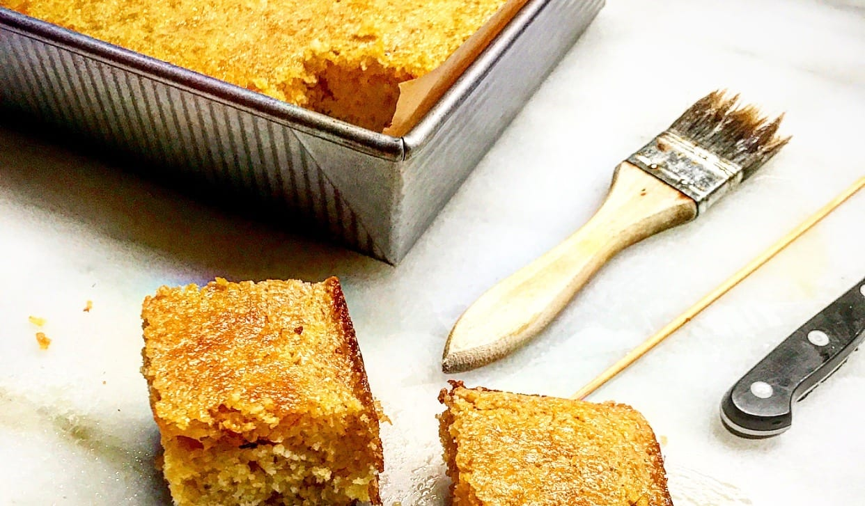 Butter-Honey Glazed Cornbread | Jessie Sheehan Bakes