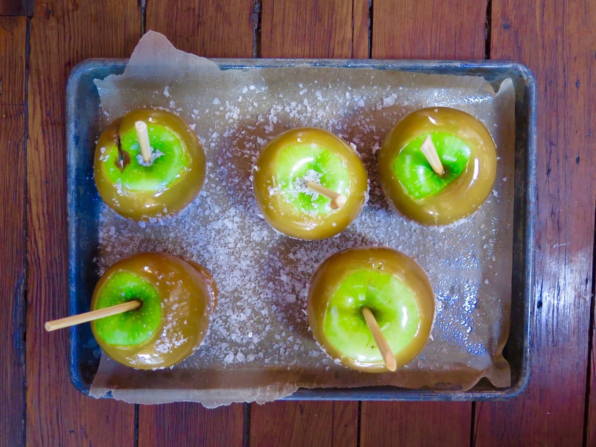 Salty Caramel Apples Recipe   Jessie Sheehan Bakes