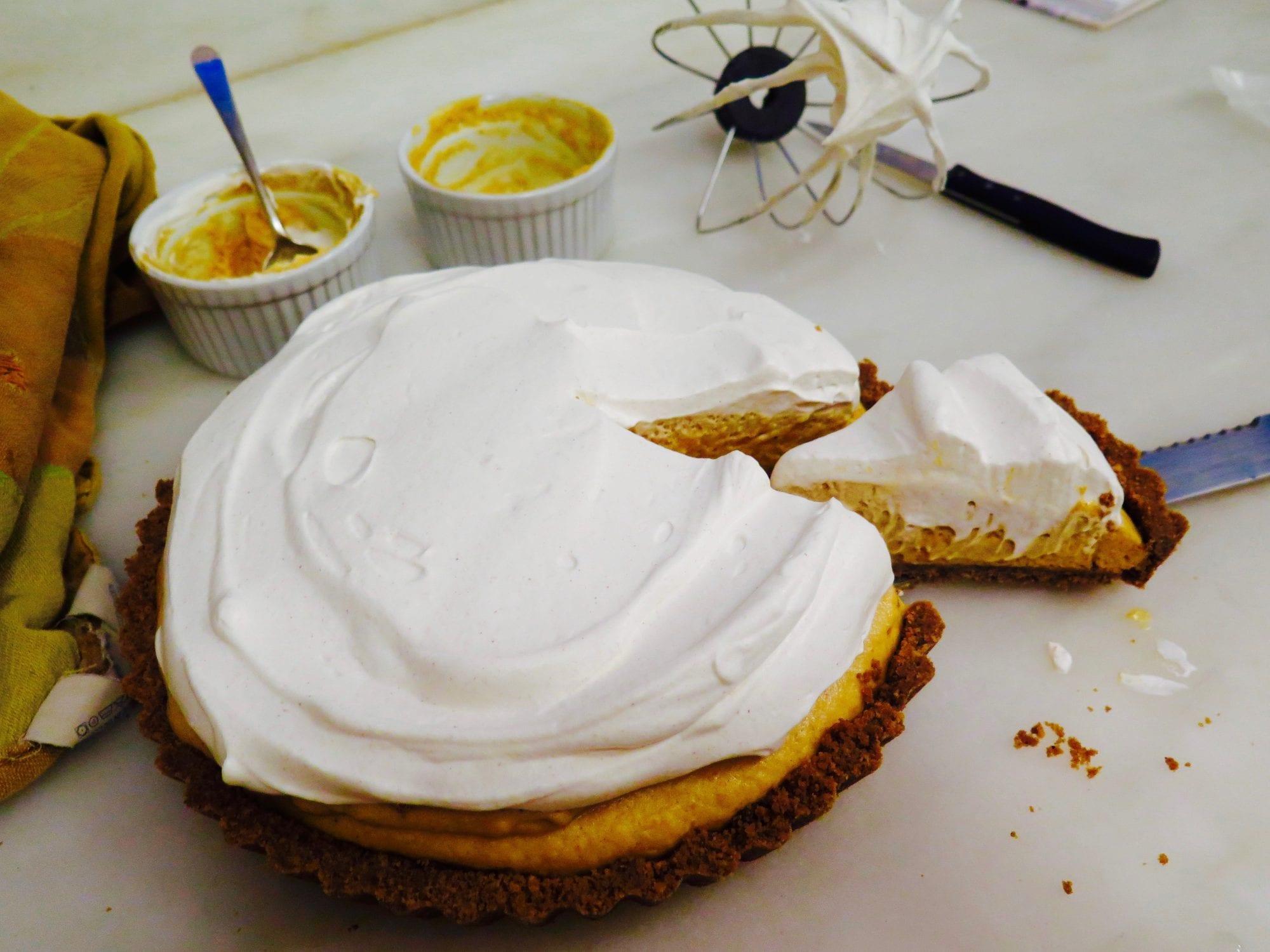 Pumpkin Mousse Tart Recipe | Jessie Sheehan Bakes