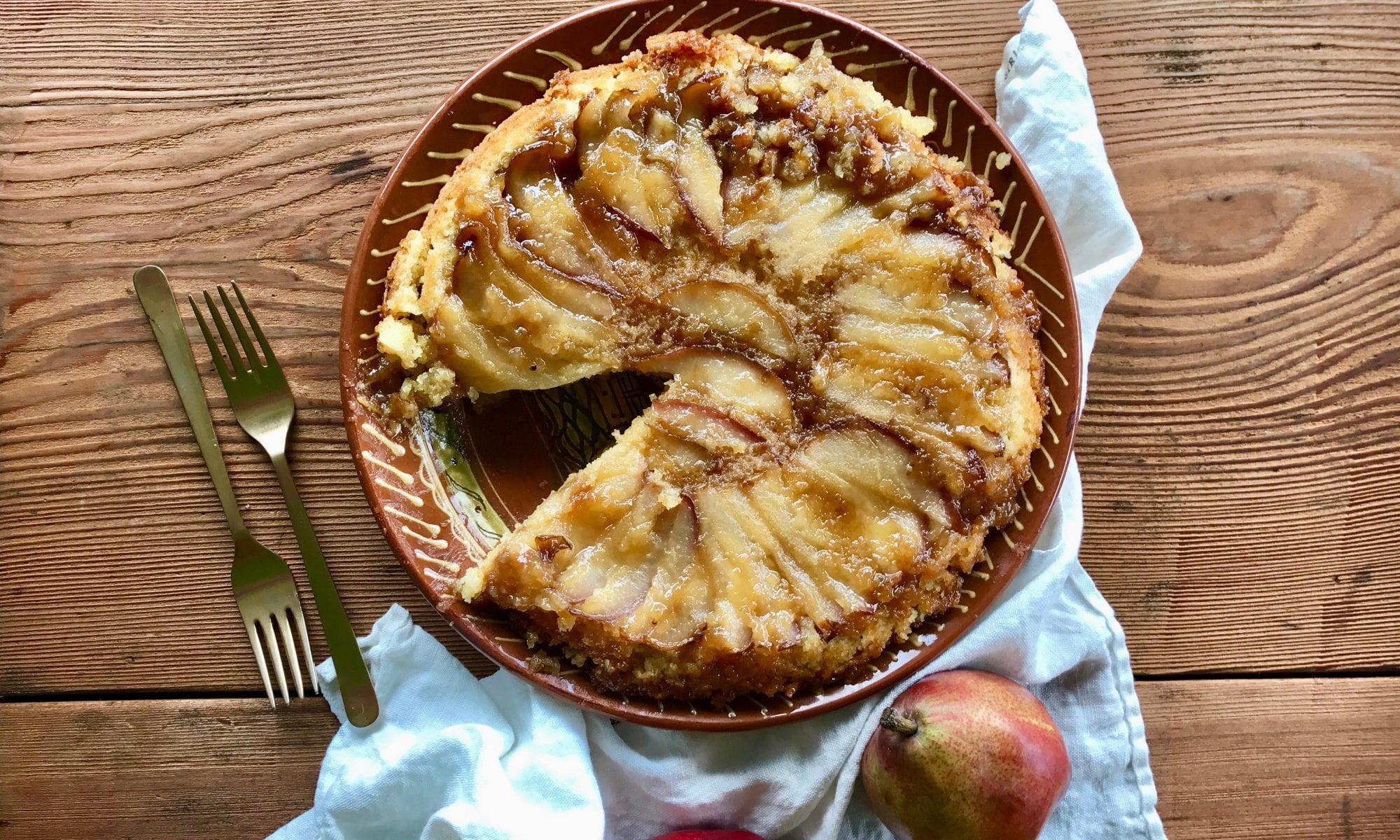 Rustic Pear Upside-Down Cake | Jessie Sheehan Bakes