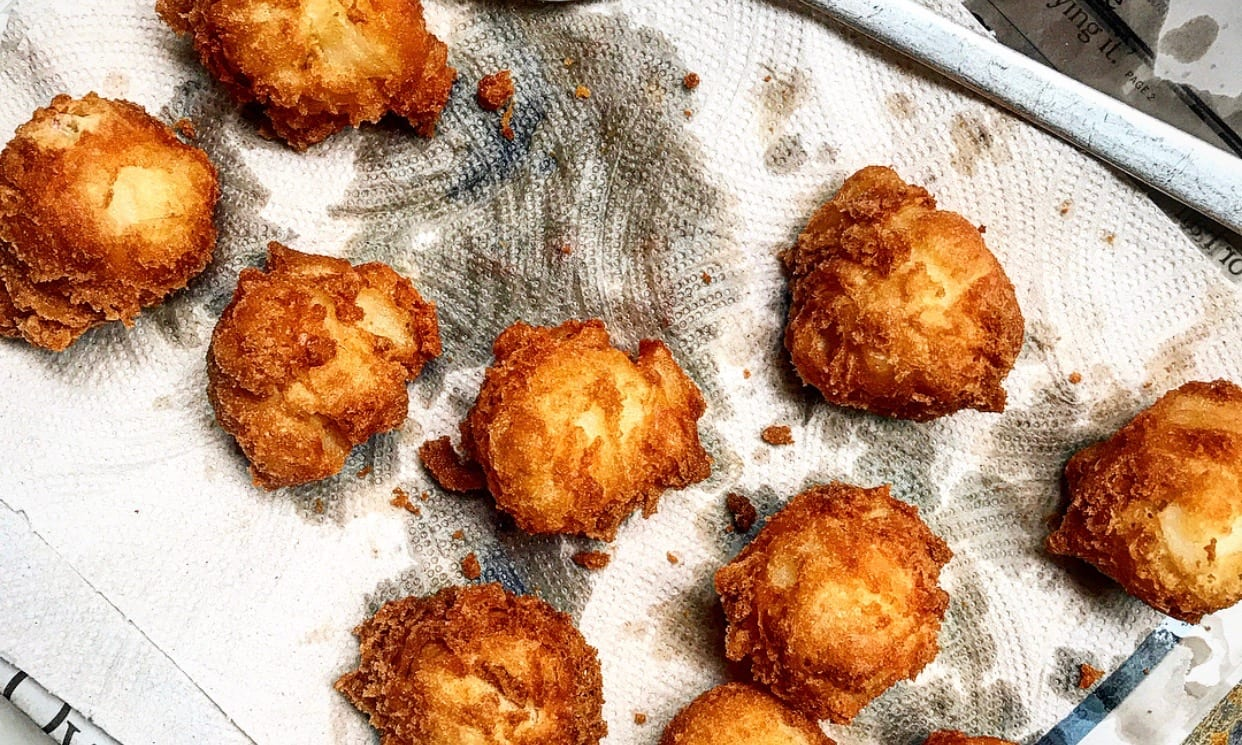 Apple Fritters Fresh Out of the Fryer | Jessie Sheehan Bakes