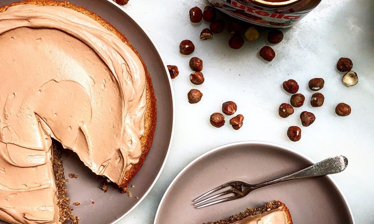 Flourless Hazelnut Cake with Nutella Whipped Cream | Jessie Sheehan Bakes