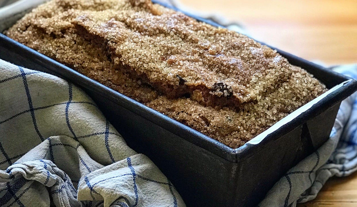 Cinnamon Sugar Cranberry Bread | Jessie Sheehan Bakes