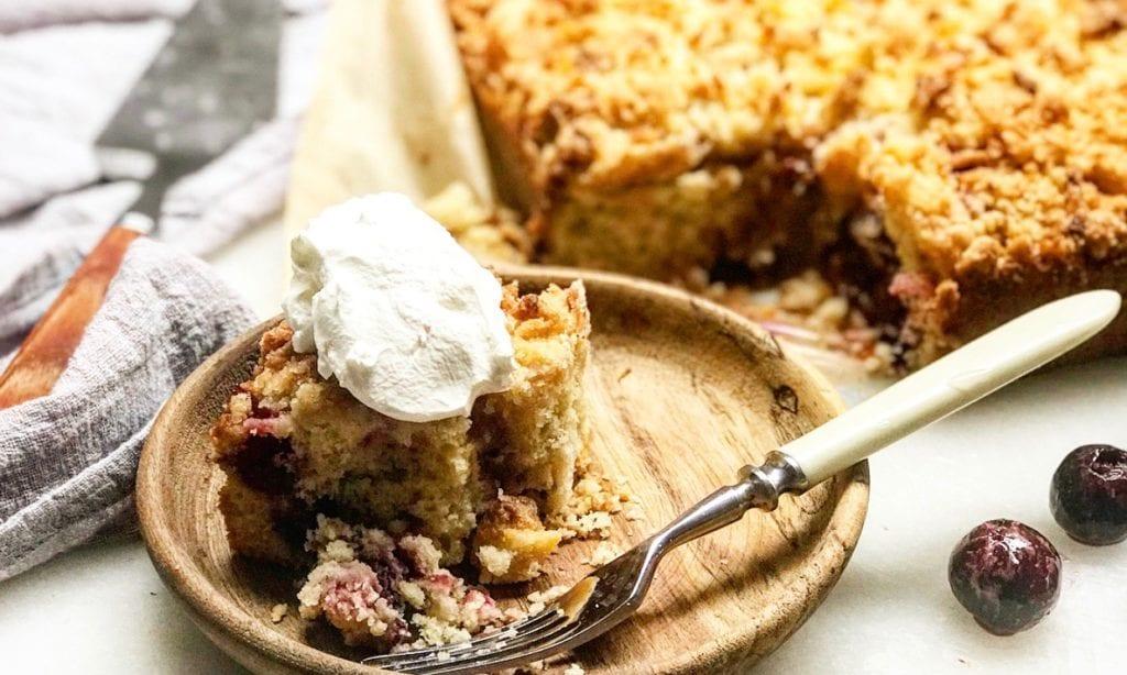 Cherry Almond Snacking Cake | Jessie Sheehan Bakes