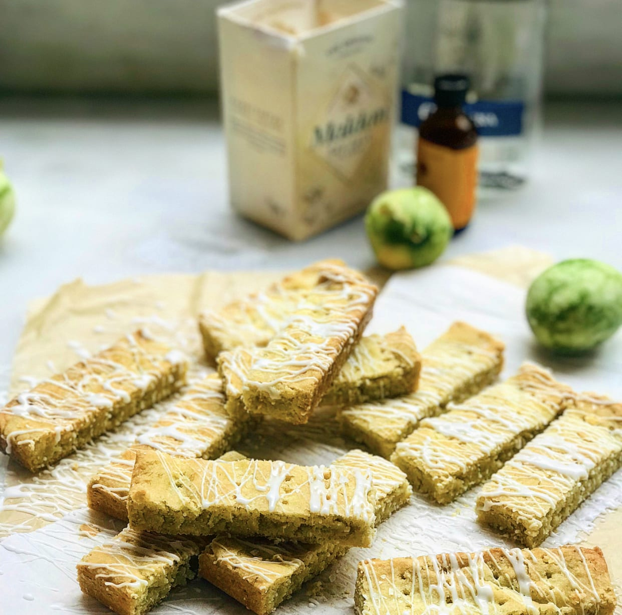 Margarita Shortbread Cookies with Orange Tequila Glaze | Jessie Sheehan Bakes