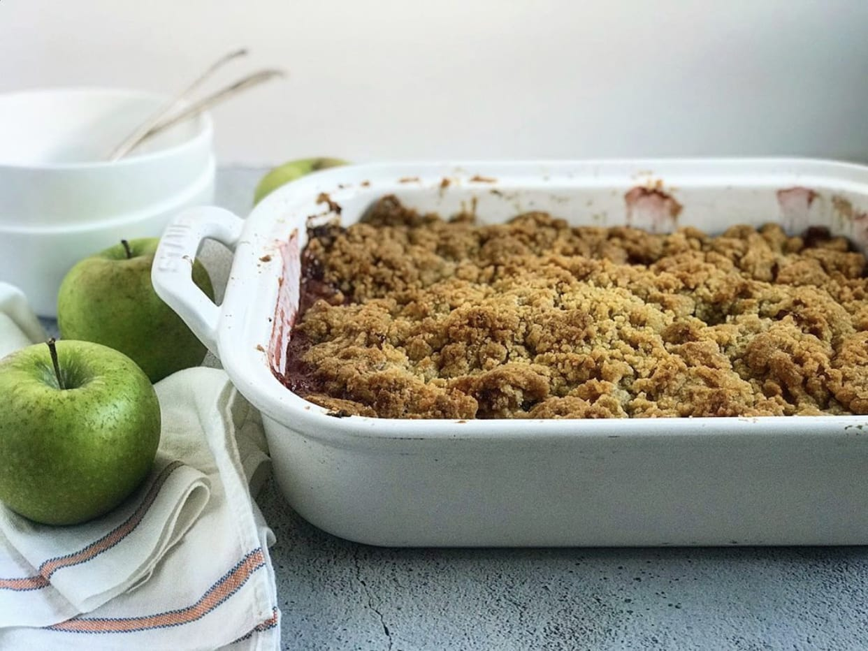 Apple Cranberry Crumble | Jessie Sheehan Bakes