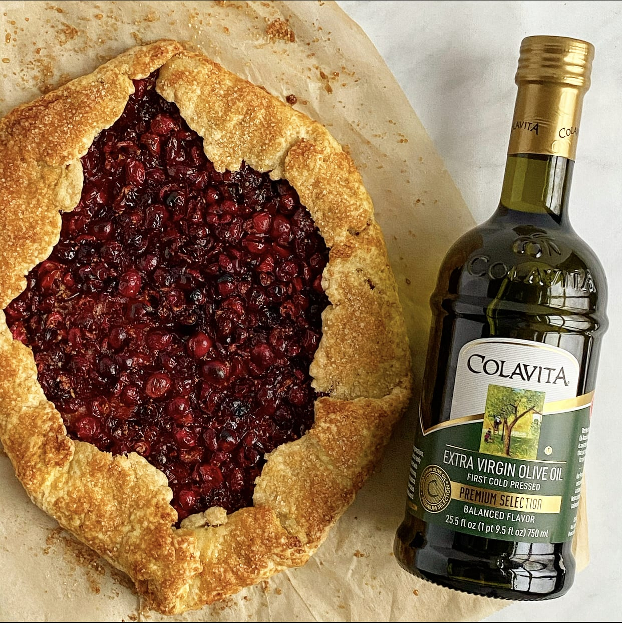 Cranberry Galette with an Easy Peasy Olive Oil Crust