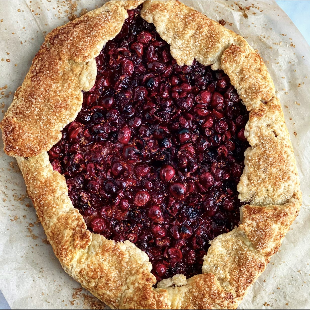 Cranberry Galette with an Olive Oil Crust is perfect for the holidays